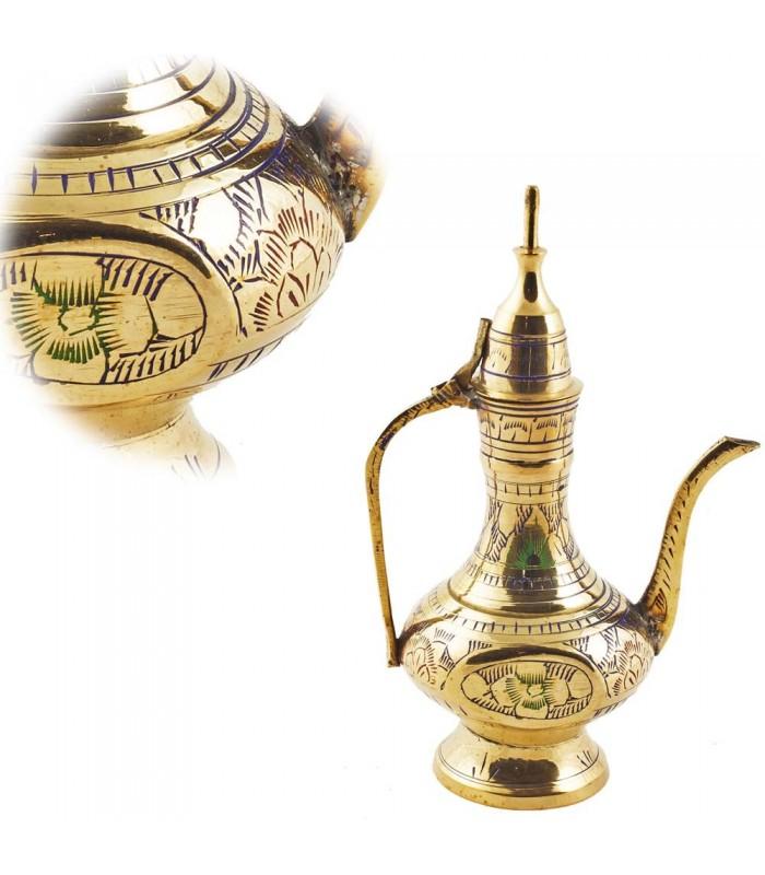 Recorded Tea Bronze Decorative-Floral Design Multicolor-15 cm