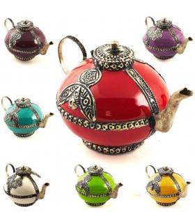 Dekorative Keramik Teekanne und Alpaca - verschiedene Farben - 15 cm