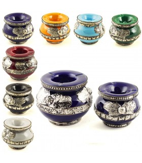 Water ashtray Fatima hand - decorated Alpaca - 2 sizes