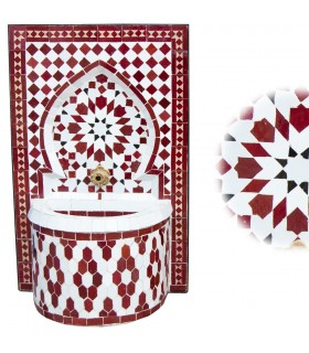 Fuente de Mosáico Mini - Instalación - Ruedas - Colores 50 cm