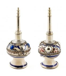 Dekorative Keramik und Alpaka - 2 Stück-2 Farben - Rosenwasser