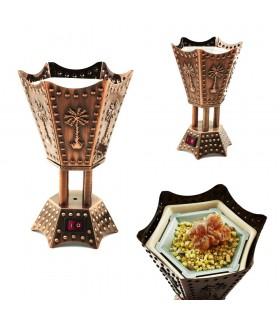 Censer Eletrônico - Hexagonal - Design árabe - 220 V - 15cm