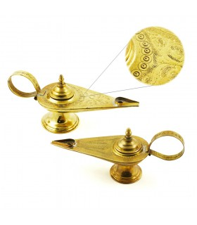 Aladdin brass - etched Arabic - 2 sizes - craftsman