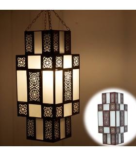 Arabische Lampe Design Damen - weiß opak - Tiefgang Arabisch 50 cm