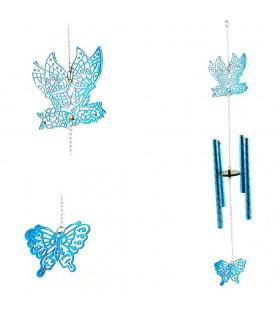 Movil Campana Viento - Mariposa Azul - Fundición - 45 cm