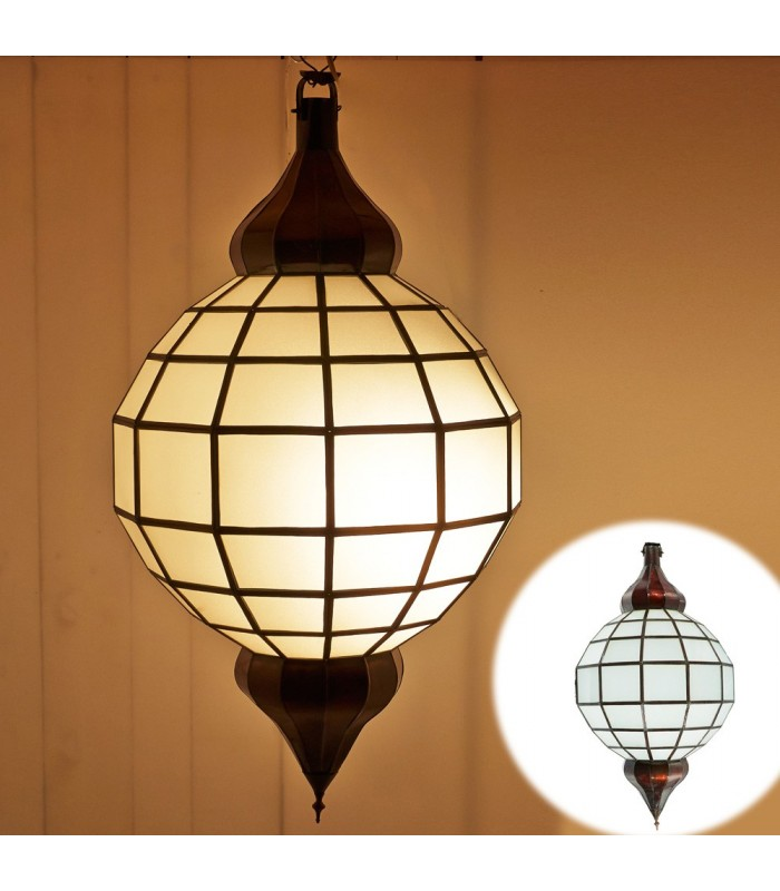 Golden Globe Lamp - White Opaque - Andalus - 2 Sizes