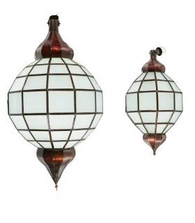 Лампа глобус золото - белый непрозрачный - Andalusi - 2 размеров