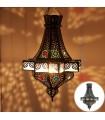 Lámpara Diamante Calado - Resinas Colores - 60 cm - Calidad
