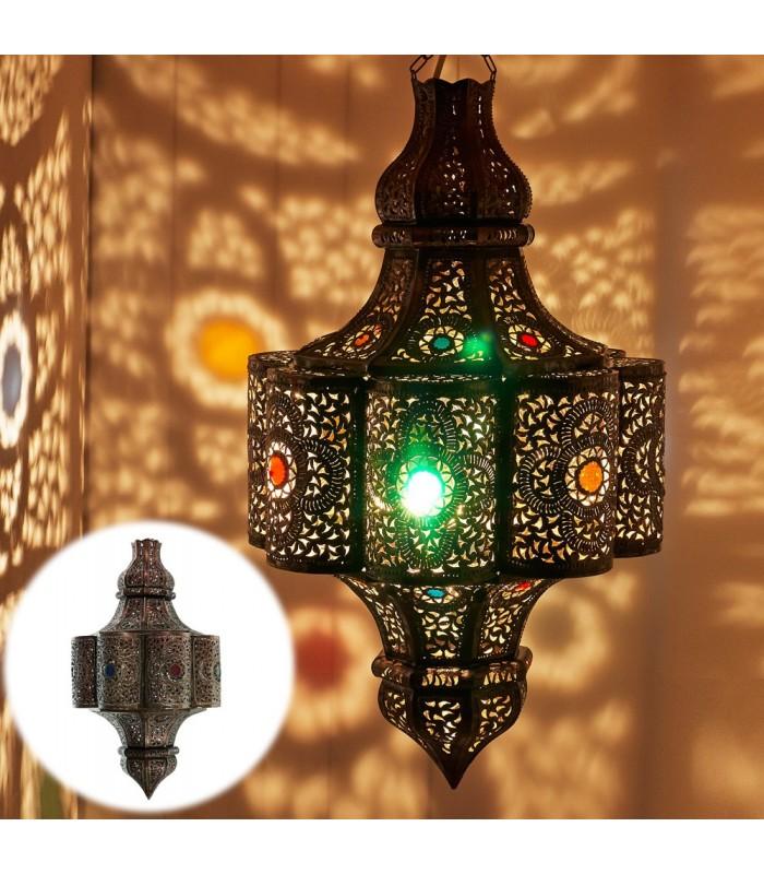 Lámpara Esmeralda Calada - Resinas Colores - 70 cm - Calidad