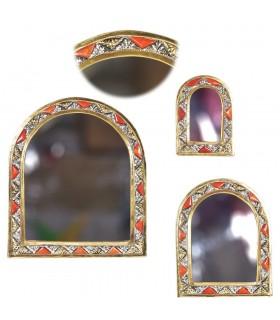 Juego 3 Espejos Arco - Alpaca Hueso y Latón - Diseño Arabe