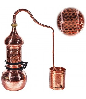 Alambic Colonne de cuivre-Artisan-distillation Essences et Lique