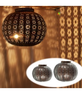 Lamp globe permeated Arab - Andalusian design - 2 sizes
