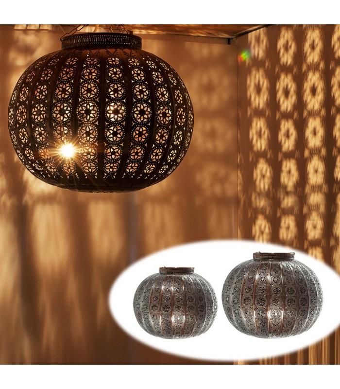 Lámpara Globo Calado Arabe - Diseño Andalusí - 2 Tamaños