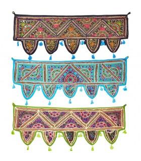 Decorazione opaco frange - qualità - artigianale - 100 x 35 cm