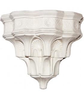 Aplique Arabe Escayola - Diseño Andalusí - 21 x 23 cm