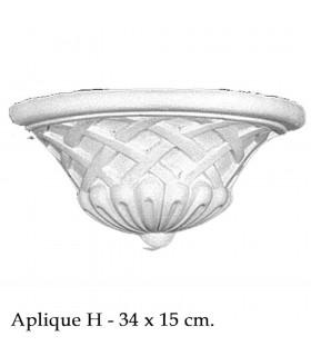 Aplique Arabe Escayola - Diseño Andalusí - 34 x 15 cm
