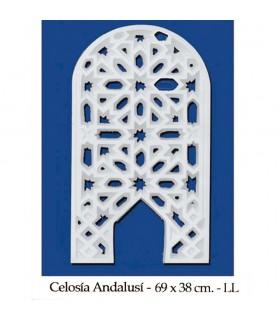Plâtre Lattice arabe - Conception Adanlusí - 69 x 38 cm