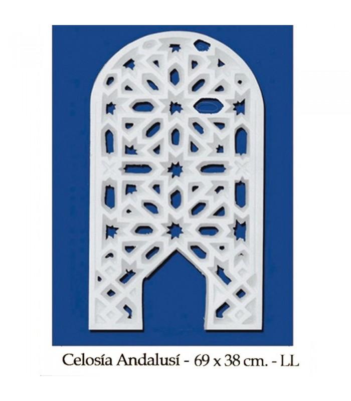 Celosía Arabe Escayola - Diseño Adanlusí - 69 x 38 cm
