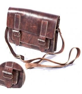 Кожаный портфель документов - 3 отделения - 30 см
