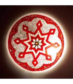 Aplique o Plafón Turco - Cristal Murano - Mosáico Arabe - 30 cm