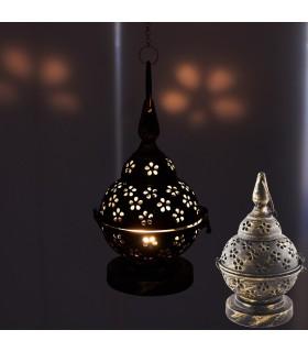 Kerze-Halter Metall Entwurf - im Alter - mit oder ohne Cadeda - 20 cm