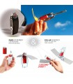 Double Solar Burner -Sol and Gas - Ecological - Natural - Portable