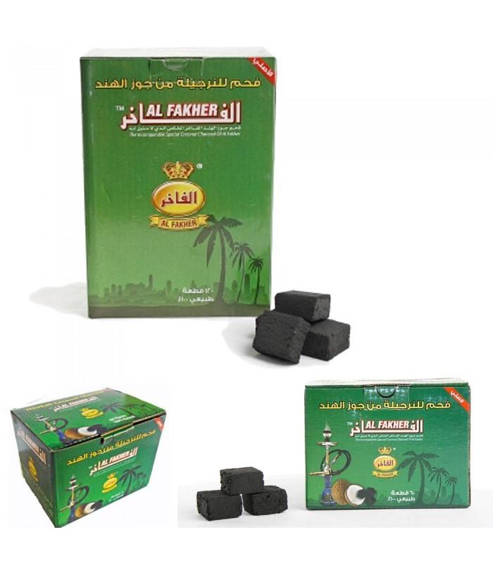 Carbón Al-Fakher - Coco 100% Natural - 60 o 120 piezas