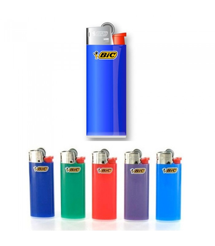 Bic Lighter - Rechargeable - Assorted Colors - 6 cm