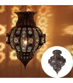 Lámpara Esmeralda Calada - Resinas Colores - 60 cm - Calidad