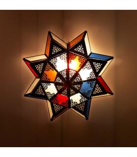 Progetto di arabo Arabian soffitto lampada - cristalli multicolore-