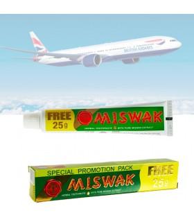 Dentífrico Natural Miswak Mini Viaje -Salvadora Persica 50+25 gr