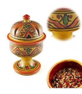 Курильница купол Арабский - керамическая глазурованная - 4 цвета - 17 см