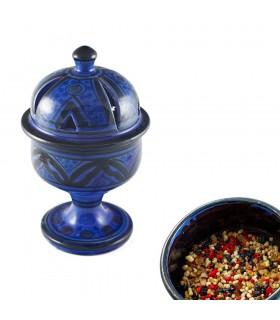 Räuchergefäß Kuppel Arabisch - Keramik glasiert - 4 Farben - 17 cm