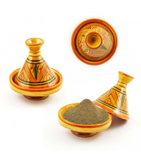 Decorado Mini-Spice Tajin várias cores, 10 cm de altura