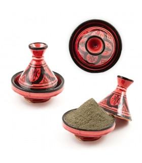 Einkaufsmöglichkeit Mini Tajin Decorado-Varios Farben - 10 cm hoch