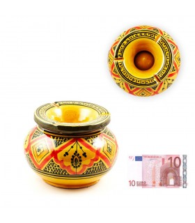Ashtray water Gitante - ceramic glazed - various colors - 15cm