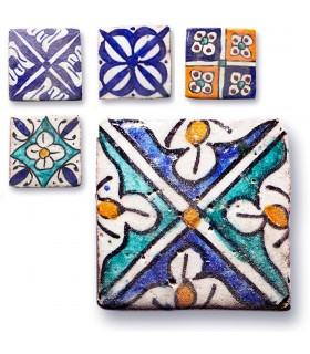 Andalusian Tile Mini - 5 cm - Various Designs - Handmade