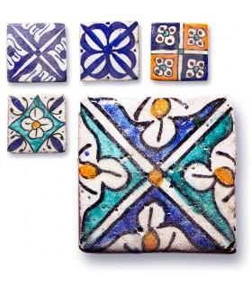 Azulejo Andalusí Mini - 5 cm - Varios Diseños - Artesanal