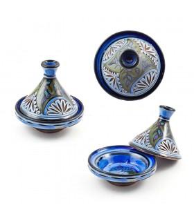 Einkaufsmöglichkeit Mini Tajin Schmiedeeisen - verschiedene Farben - 10 cm hoch