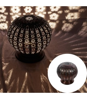 Lamp globe permeated Arab - night table - design Andalusí