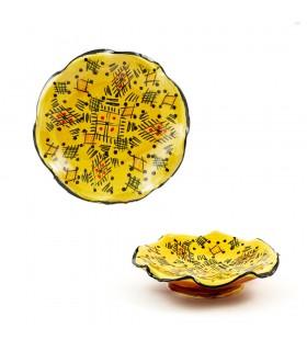 Ondulado tigela de cerâmica - Várias Cores - Artisan - 15 centím