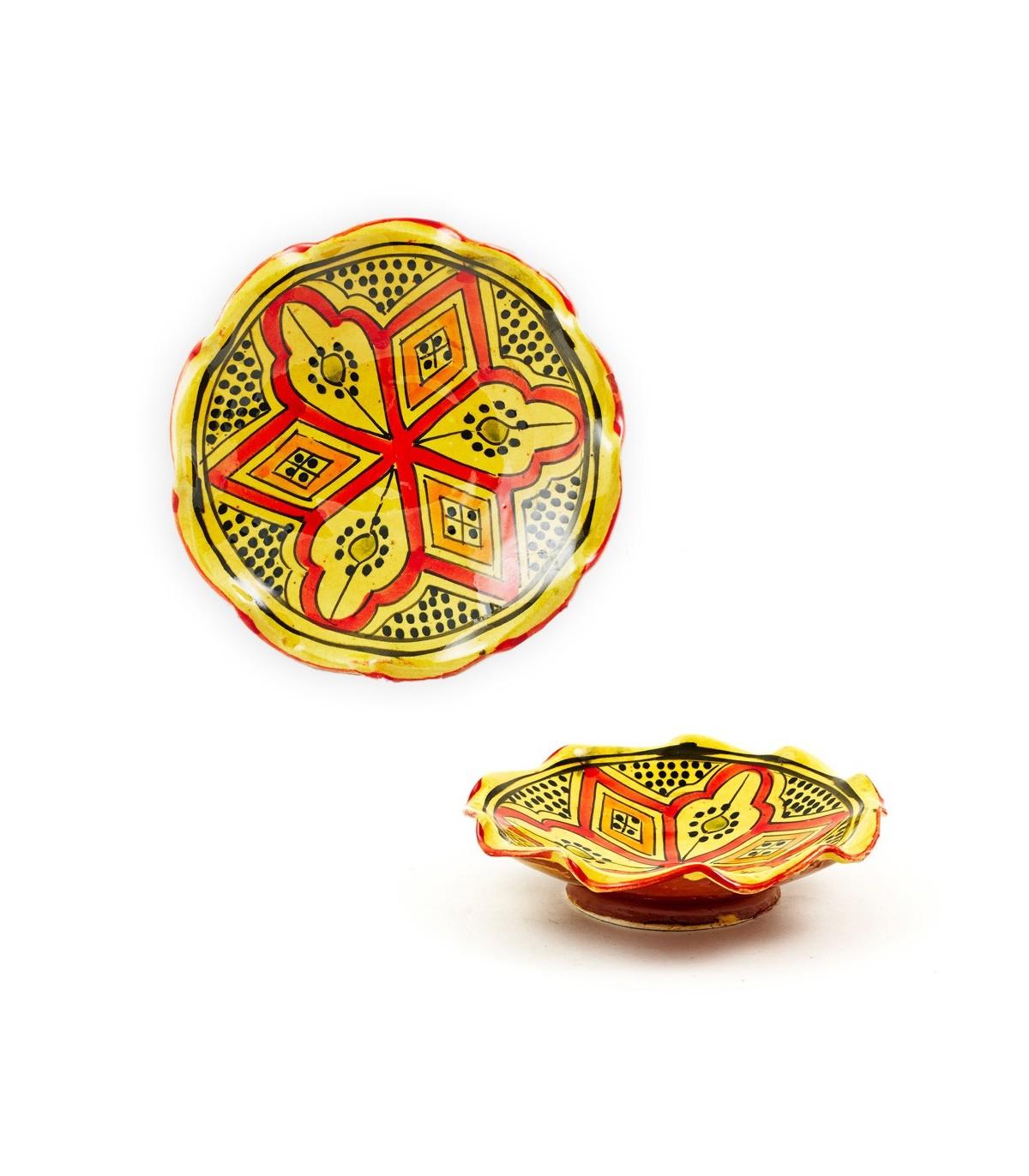 Plato cer mica ondulado varios colores artesano 15 cm online - Platos ceramica colores ...