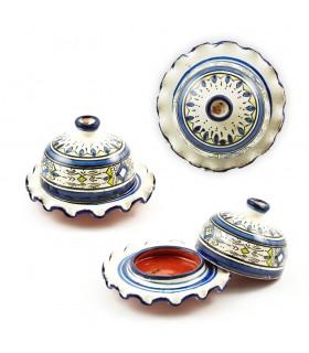 Cenicero Cerámica - Tajin Ondulado - Varios Colores - 14 cm