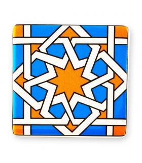 Árabe Ímã quadrado da telha - Frigorífico Ideal - 6 centímetros