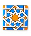 Magnet tile Arabic square - Ideal refrigerator - 6 cm