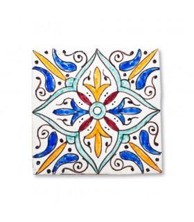 Al-Andalus - 14,5 cm - verschiedene Designs - handgefertigte Tile - Modell 2