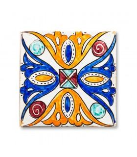 Al-Andalus - 14,5 cm - parecchi disegni - artigianale di piastrelle - modello 4