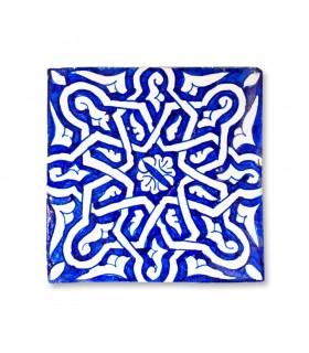 Al-Andalus - 14,5 cm - parecchi disegni - artigianale di piastrelle - modello 5