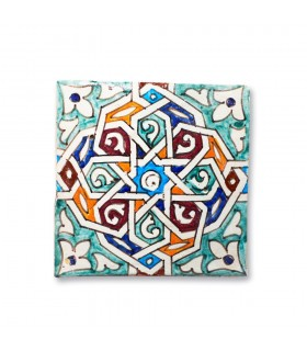 Al-Andalus - 14,5 cm - several designs - handcrafted tile - 8 model