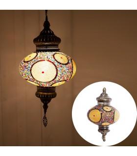 Türkische Lampe - Glas Murano - Mosaik - hohe Qualität - 60 cm